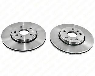Гальмівний диск передній 280x24mm. (к-т 2шт) на Renault Kangoo II 2008-> - Renault (Motrio) - 8660001230