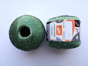 Пряжа Диаманте Пайет Ярна Италия, с пайетками, цвет сальвия 148/250