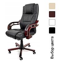 Комп'ютерне крісло офісне Prezydent Calviano механізм TILT Чорне, фото 1