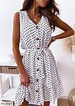 Сукня жіноча літнє у горох з воланами, фото 3