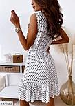 Сукня жіноча літнє у горох з воланами, фото 4
