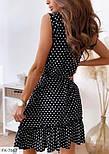 Сукня жіноча літнє у горох з воланами, фото 2