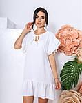 Женское платье, структурный креп - жакта, р-р 42-44; 46-48 (белый), фото 2