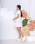 Женское платье, структурный креп - жакта, р-р 42-44; 46-48 (белый), фото 3