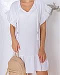Женское платье, структурный креп - жакта, р-р 42-44; 46-48 (белый), фото 4