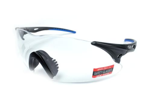 Спортивні окуляри Global Vision Eyewear TRANSPORT BLACK-BLUE Clear