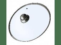 Крышка стеклянная с металлическим ободком