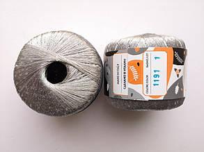 Пряжа Диаманте Пайет Ярна Италия, с пайетками, цвет серый/серебро 1191/250