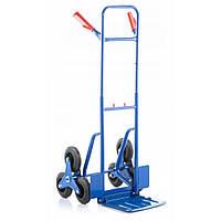 Тележка грузовая лестничная ручная трансформер Siker до 250 кг транспортная для лестницы с выдвижной ручкой, фото 1