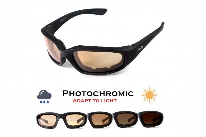 Фотохромные очки хамелеоны Global Vision Eyewear KICKBACK 24 Sunset