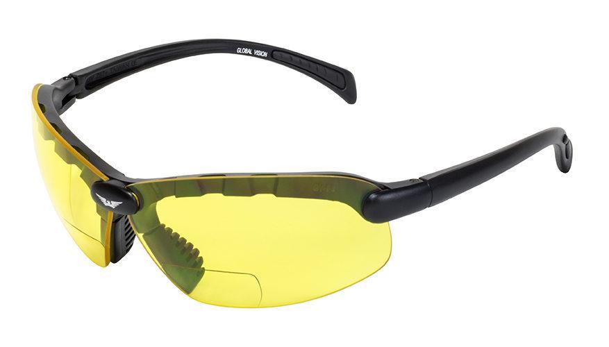Біфокальні окуляри Global Vision Eyewear C-2 BIFOCAL Yellow +1,5 дптр