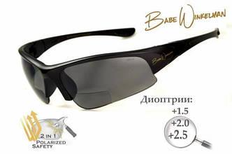 Біфокальні окуляри з поляризацією BluWater Winkelman EDITION 1 Gray +2,0 дптр