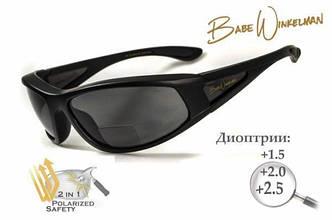 Біфокальні окуляри з поляризацією BluWater Winkelman EDITION 2 Gray +2,5 дптр