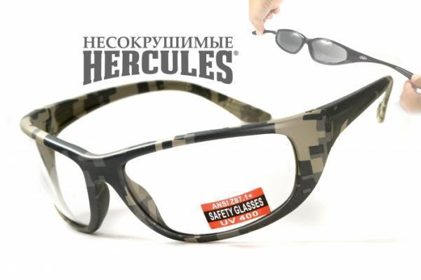Стрілецькі окуляри Global Vision Eyewear HERCULES 6 CAMO Clear
