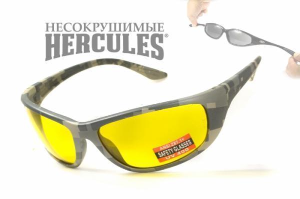 Стрелковые очки Global Vision Eyewear HERCULES 6 CAMO Yellow
