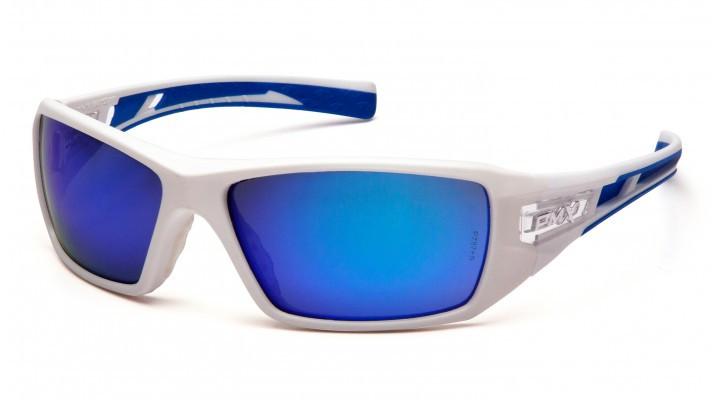 Спортивні окуляри Pyramex VELAR Ice WHITE Blue Mirror