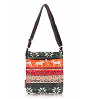 Сумка-планшет женская стёганая POOLPARTY с оленями оранжевая, фото 1