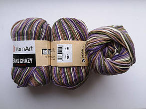 Пряжа Джинс Крейзи ЯрнАрт Jeans Crazy YarnArt (RAM) цвет 7207