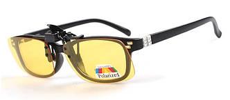 Поляризаційна накладка на окуляри RockBros маленька жовта