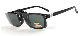 Поляризаційна накладка на окуляри RockBros велика зелена