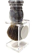 Помазок барсук на подставке Hans Baier 51031-1 Серый, фото 3