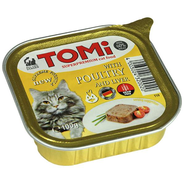 TOMi poultry liver ТОМИ ПТИЦЯ Печінку супер преміум корм для котів, паштет