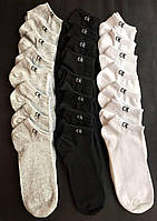 Набір коротких чоловічих шкарпеток Calvin Klein 9 пар чорних в подарунковій упаковці!, фото 5