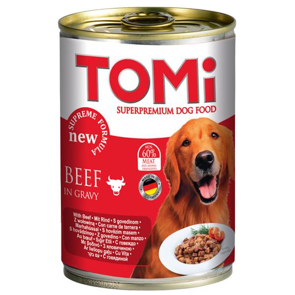 TOMi Beef ТОМИ ГОВЯДИНА супер премиум корм, консервы для собак