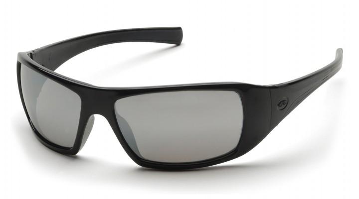 Спортивные очки Pyramex GOLIATH BLACK Silver Mirror