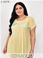 Красивая женская футболка размеры 56-62, фото 1