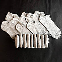 Набор коротких мужских носков Calvin Klein 9 пар серых в подарочной упаковке!, фото 4