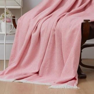 Плед-накидка Eponj Home - Denizli Grapon 190*220 pembe рожевий
