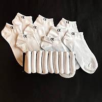 Набір коротких чоловічих шкарпеток Calvin Klein 9 пар білих в подарунковій упаковці!, фото 5