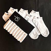Набір коротких чоловічих шкарпеток Calvin Klein 9 пар білих в подарунковій упаковці!, фото 3