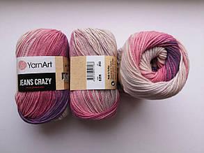 Пряжа Джинс Крейзи ЯрнАрт Jeans Crazy YarnArt (RAM) цвет 8206