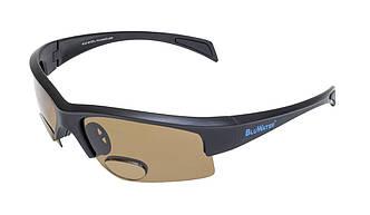 Біфокальні окуляри з поляризацією BluWater BIFOCAL 2 Brown +1,5 дптр