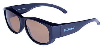 Накладні окуляри з поляризацією BluWater OVERBOARD Brown