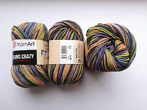 Пряжа Джинс Крейзи ЯрнАрт Jeans Crazy YarnArt (RAM) цвет 8213