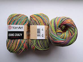 Пряжа Джинс Крейзи ЯрнАрт Jeans Crazy YarnArt (RAM) цвет 8215