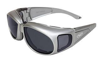Накладні окуляри Global Vision Eyewear OUTFITTER Metallic Smoke