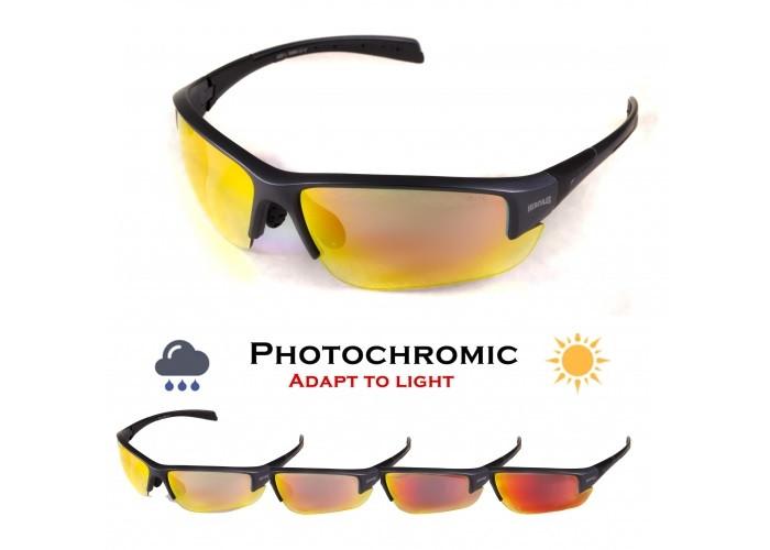 Фотохромні окуляри хамелеони Global Vision Eyewear HERCULES 7 G-Tech Red