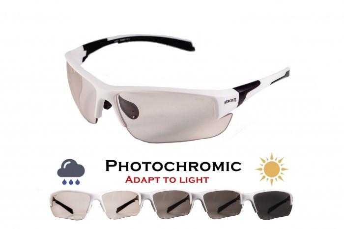 Фотохромні окуляри хамелеони Global Vision Eyewear HERCULES 7 WHITE Clear
