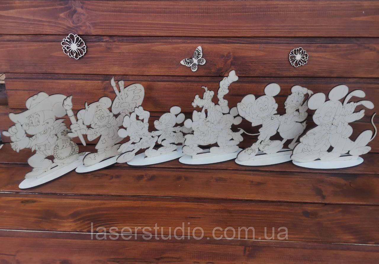 """Детский набор для рисования """"Микки-Маус и Друзья"""" на подставках  набор для творчества Раскраски для детей"""