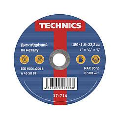 Круг відрізний для металу Technics 180 1,6 22