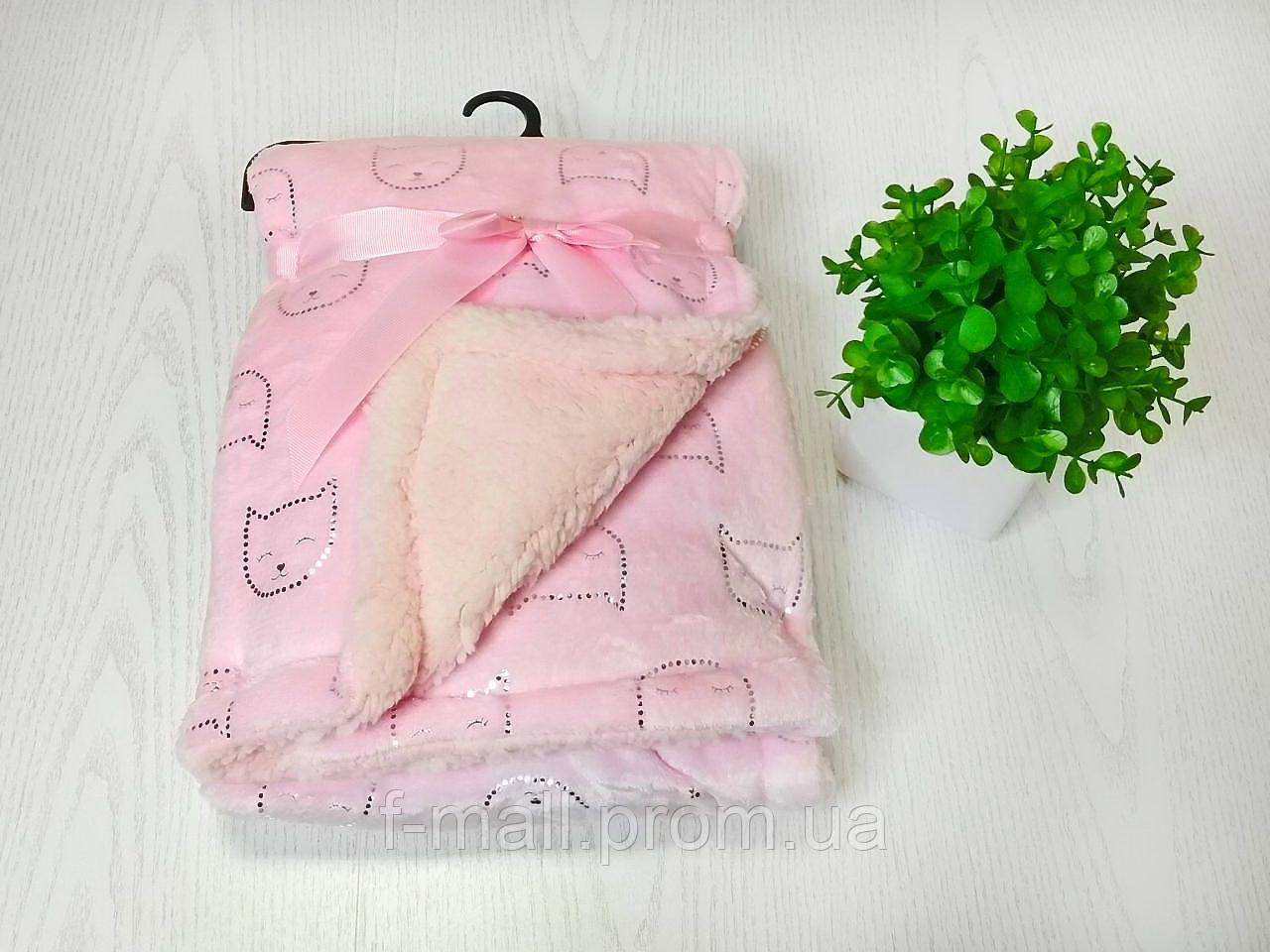 Плед покрывало одеяло в кроватку или коляску