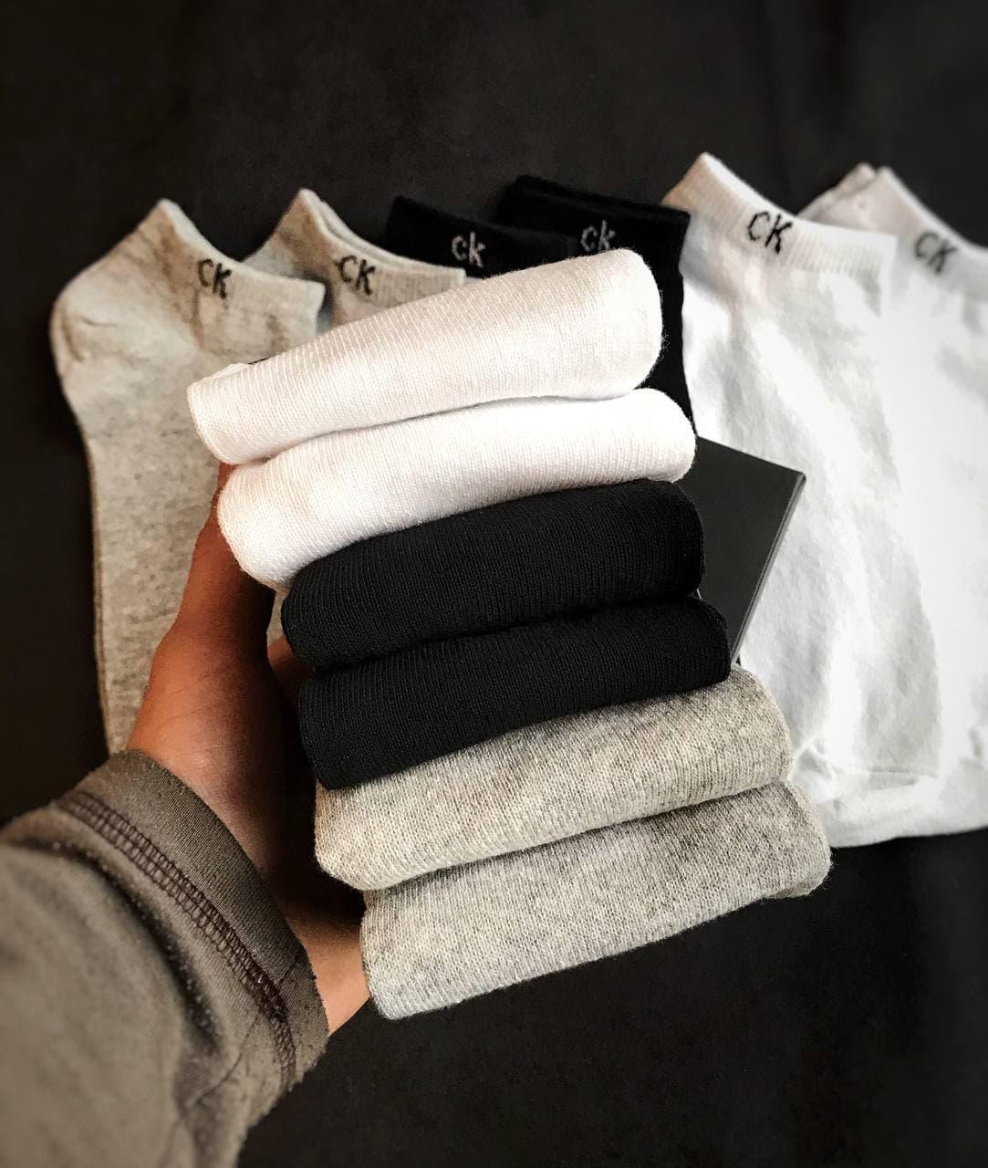 Набор коротких мужских носков Calvin Klein 6 пар в подарочной упаковке!