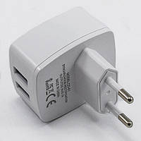 Сетевой адаптер для зарядки Inkax CD-51 USBx2, 220В, 3,1А, сетевой адаптер, зарядное устройство Inkax, фото 1
