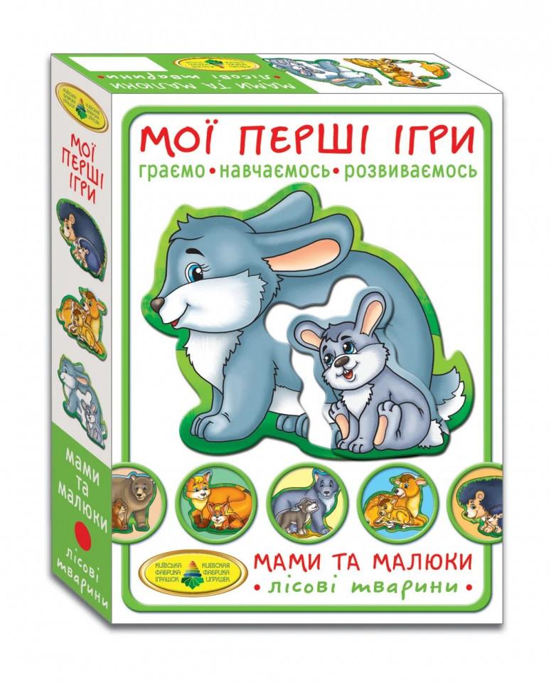 Дитяча розвиваюча гра Мами і малюки 81114 лісові тварини
