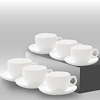Сервіз чайний Essence 12 предметний ( 6 чашок 220 мл з блюдцями) Luminarc.