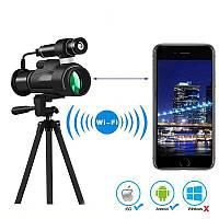 Монокуляр с ночным видением ПНВ и wifi передачей на смартфон Boblov BAK4, 12Х приближение, активная ИК